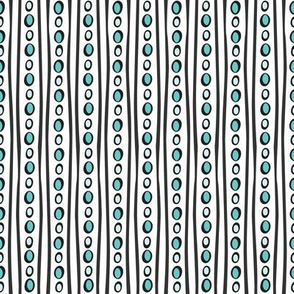 Midnight Stripe (Light Teal)