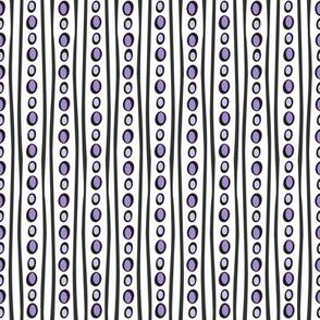 Midnight Stripe (Light Purple)