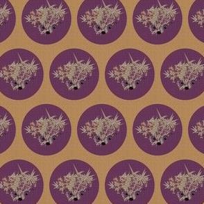 Hedgehog Dots-Plum on Caramel (textured)