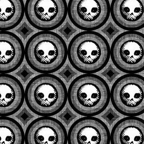 Geo Skulls - charcoal