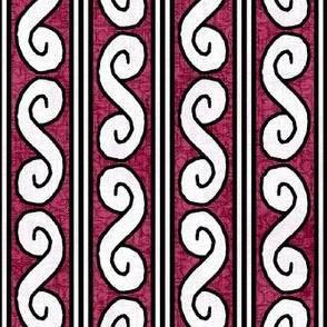 Medieval Deck Border Red