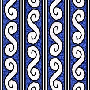 Medieval Deck Border Blue