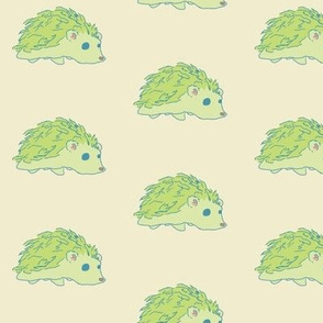 green hedgehog