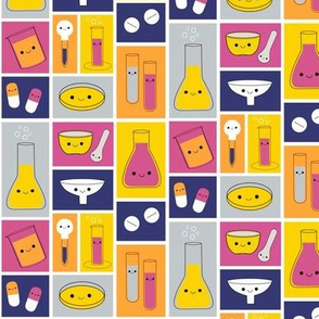 Happy Pharmacy Friends - Royal Blue, Yellow, Dark Pink