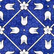 Medieval Deck Pattern Blue