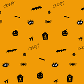 Happy Halloween Creepy print
