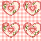 Gingham and Rose Hearts