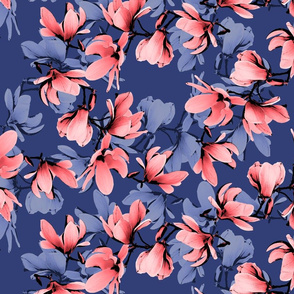 floral navy