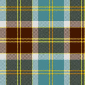 Bannockbane trade tartan - brown and teal