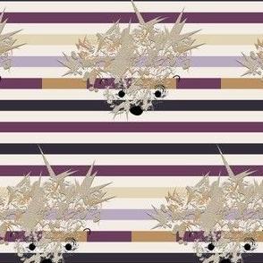 Hedgehog on Stripes (small)