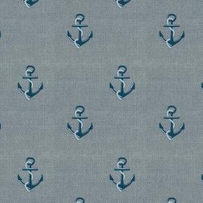 Anchors on denim