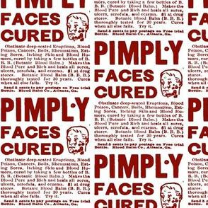 Botanic Blood Balm Pimple Cure Ad
