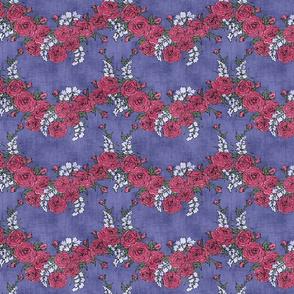 Roses & Lavender Chevron