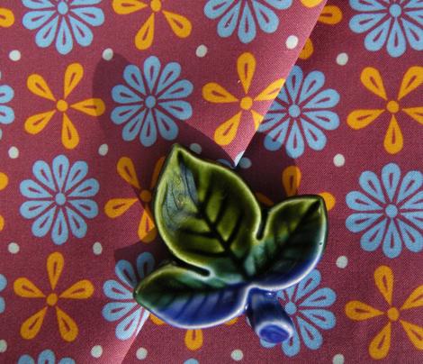 Peoria La - Flowers (Burgundy)