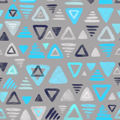 Summer Turquoise Triangles on Grey