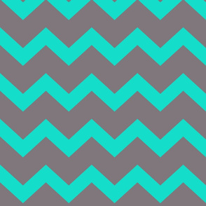 chevron blue & grey