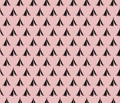 Trendy teepee and indian summer arrow illustration geometric aztec print in coral pink