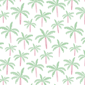 Summer palm tree beach coconut pastel bikini tropics illustration print in mint