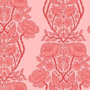 rococo wallpaper - pink