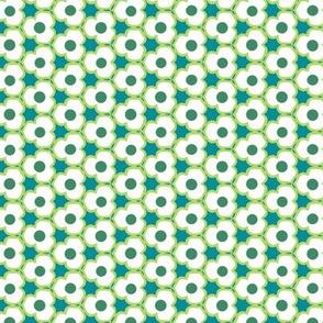 Blue, White & Green Flower Small Pattern