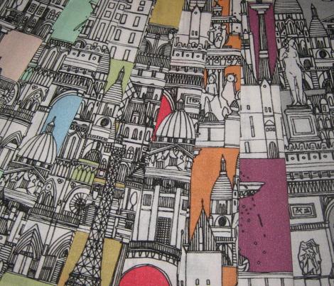 Paris toile cantaloupe