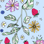 Flowers, plants, and berries