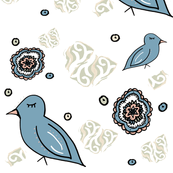 Boho Dream Birds Scrapbook
