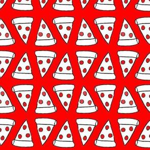 Pepperoni Pizza Slice, Bright Orange-Red
