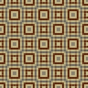 Summer Gingham (Taupe and Brown)