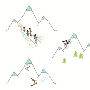 Mountain play (in warm white)