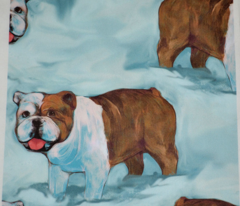 Bulldog in Snow