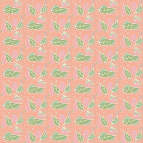 Creammy pink with green veggie