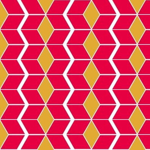 Red and Yellow Pepper Chevrons