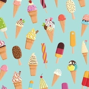 Colorful ice cream
