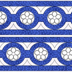Medieval Deck Trim Blue