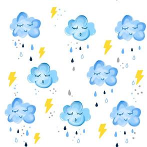 Rain clouds & lightning