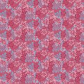 Hawaiian Lei Flower Pattern in Reds & Blues