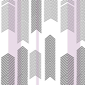 chevron stripe in lavender