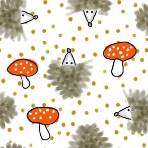 Hedgehog Mushroom Scatter