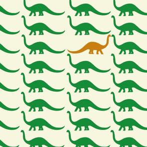 Brontosaurus walk
