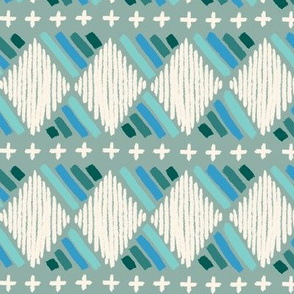 chalky tribal - teal