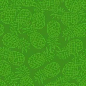 Green pineapple toss