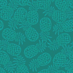 Teal pineapple toss