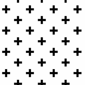 black and white swiss cross