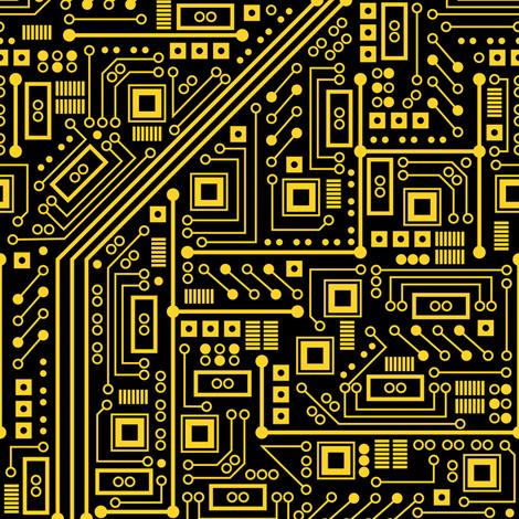 Evil Robot Circuit Board (Yellow)