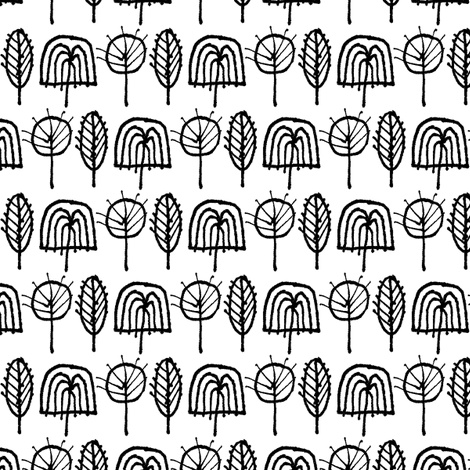 Scribble Trees (Black and White)