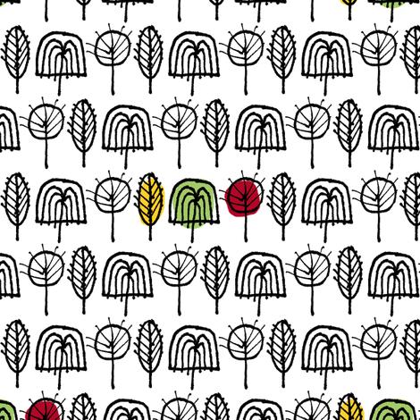 Scribble Trees (Color Splash)