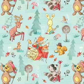 woodland-band-spoonflower