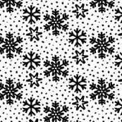 monochrome small snowflakes dots