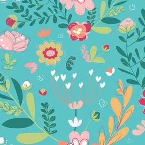 Teal Garden Delights